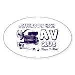 AV Club - Keepin It Reel! Oval Sticker