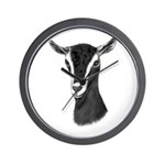 Alpine Goat Portrait Wall Clock