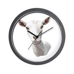 Saanen Goat Portrait Wall Clock