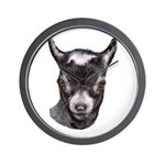 Pygmy Goat Portrait Wall Clock