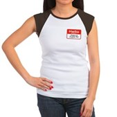 Obama Supporter Name Tag Women's Cap Sleeve T-Shir