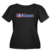I Love Obama Women's Plus Size Scoop Neck Dark T-S