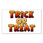 Trick or Treat Sticker (Rectangle 10 pk)