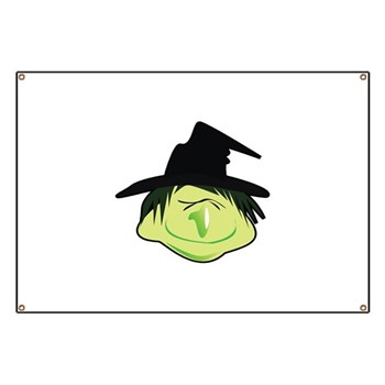 Happy Green Witch Banner
