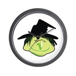 Happy Green Witch Wall Clock