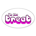 Retro I'm the Treat Oval Sticker (10 pk)