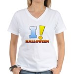 I ! Halloween Women's V-Neck T-Shirt