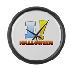 I ! Halloween Large Wall Clock