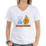 I Love Halloween Women's V-Neck T-Shirt