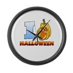I Love Halloween Large Wall Clock