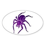 Purple Spider Oval Sticker (10 pk)