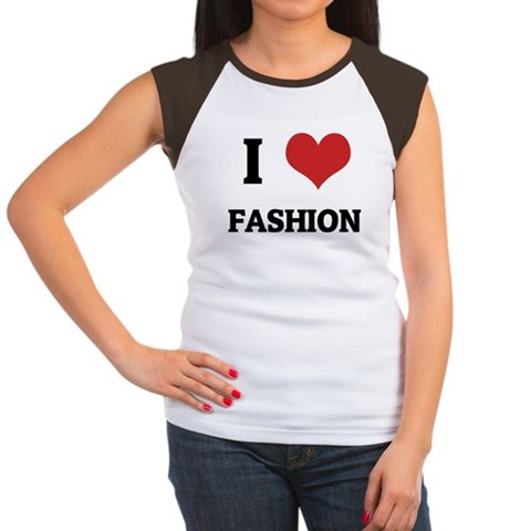 I Love Fashion Women's Cap Sleeve T-Shirt :  fashion top statement casual