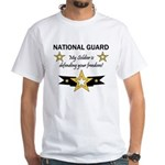 National Guard Soldier Freedo White T-Shirt