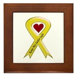 Keep My Sailor Safe Yellow Ribbon Framed Tile