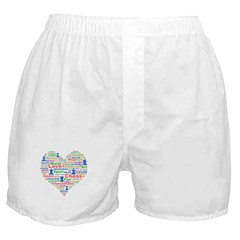 Heart Of Chess Boxer Shorts