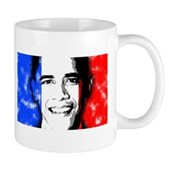 America loves Barack Obama. The world loves Barack Obama. And France loves Barack Obama! Obama's face is superimposed over the French flag. French for Obama will love this France Obama design.