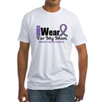 I Wear Purple Mom Fitted T-Shirt