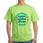 Open Water Diver 2009 Green T-Shirt