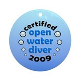 Open Water Diver 2009 Ornament (Round)