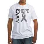 Brain Cancer Hope Fitted T-Shirt