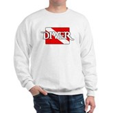 Pirate-style Diver Flag Sweatshirt