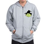 Happy Green Witch Zip Hoodie