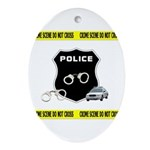 Police Crime Scene Ornament (Oval)