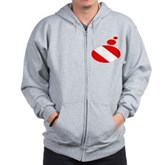 Thought Bubble Dive Flag Zip Hoodie