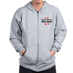 Everyone loves a Fat girl Zip Hoodie