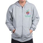 Aspies Spin the World Zip Hoodie