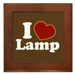 I Love Lamp Framed Tile