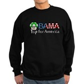 Obama 1up for America Sweatshirt (dark)