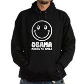 Obama Makes Me Smile Hoodie (dark)