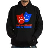 Vote Obama: No Drama! Hoodie (dark)