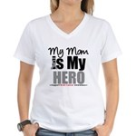 BrainCancerHero Mom Women's V-Neck T-Shirt
