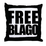 Free Illinois Governor Blagojevich, he's innocent! Throw Pillow