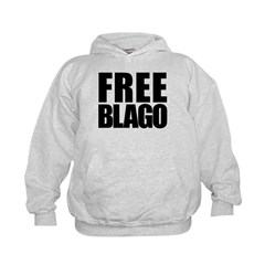 Free Illinois Governor Blagojevich, he's innocent! Kids Hoodie