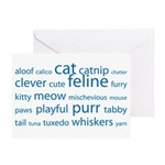 Cat Tag Cloud Greeting Card