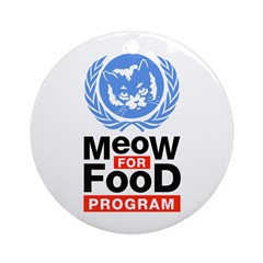Meow For Food Program Ornament (Round)