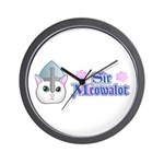 Sir Meowalot Wall Clock