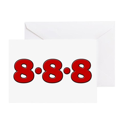 888Slot-machine Eights Greeting Card < Lucky Numbers888