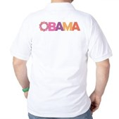 Obama Flowers Golf Shirt