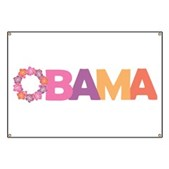 This stylish President Obama design has what looks like a Hawaiian lei for the letter O. They say that Barack Obama is Hawaii's gift to the mainland. Support President Barack Obama in girly style.