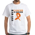 Bad Ass Leukemia Warrior White T-Shirt