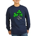 Irish Shamrocks Long Sleeve Dark T-Shirt