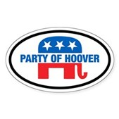 Anti-GOP Party of Hoover Oval Sticker