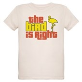 The Bird Is Right Organic Kids T-Shirt