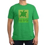 Bar Code Turtle Men's Fitted T-Shirt (dark)