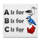 B is for Birdorable Tile Coaster