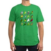 16 Birdorable Parrots Men's Fitted T-Shirt (dark)